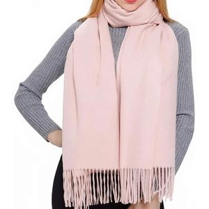 Super soft cashmere pink scarf